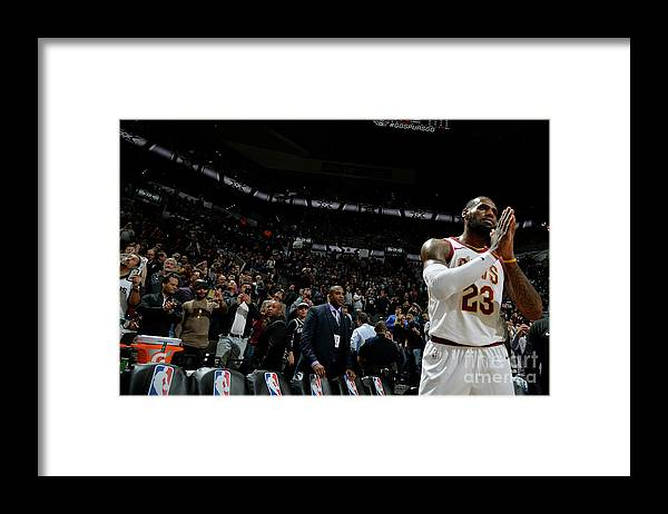 Nba Pro Basketball Framed Print featuring the photograph Lebron James by Mark Sobhani