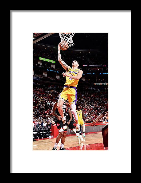 Nba Pro Basketball Framed Print featuring the photograph Lonzo Ball by Bill Baptist