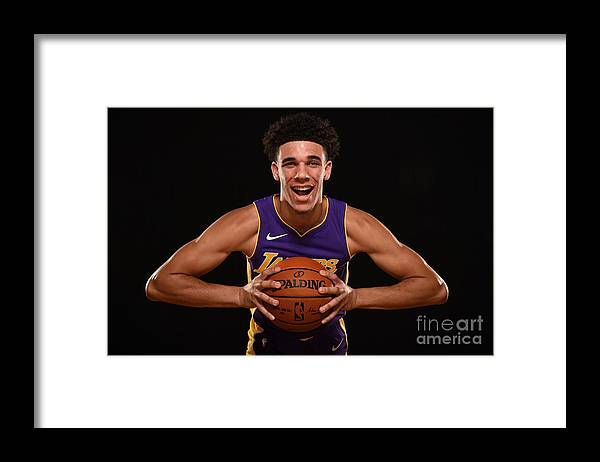 Nba Pro Basketball Framed Print featuring the photograph Lonzo Ball by Brian Babineau