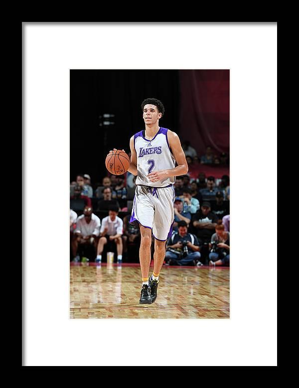 Nba Pro Basketball Framed Print featuring the photograph Lonzo Ball by Garrett Ellwood