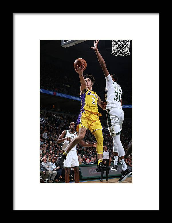 Nba Pro Basketball Framed Print featuring the photograph Lonzo Ball by Gary Dineen