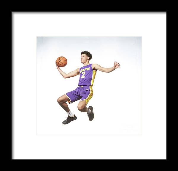 Nba Pro Basketball Framed Print featuring the photograph Lonzo Ball by Nathaniel S. Butler