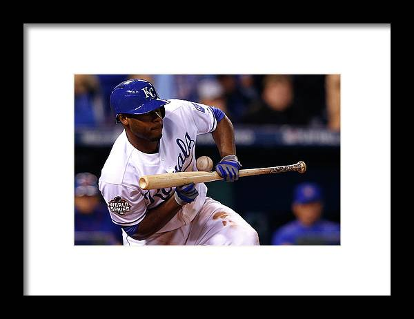 Three Quarter Length Framed Print featuring the photograph Lorenzo Cain by Jamie Squire