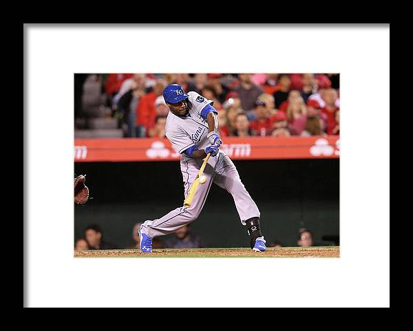 People Framed Print featuring the photograph Lorenzo Cain by Stephen Dunn