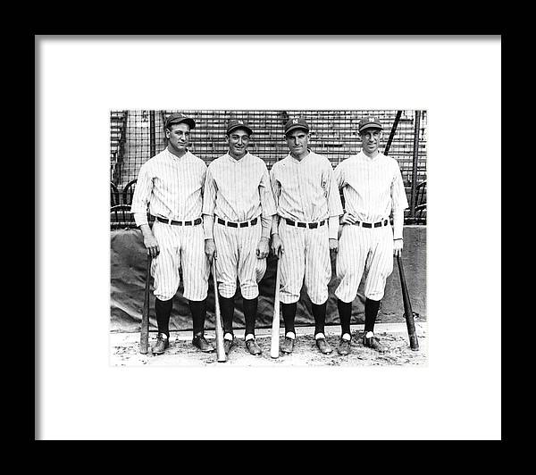 American League Baseball Framed Print featuring the photograph Lou Gehrig by Transcendental Graphics