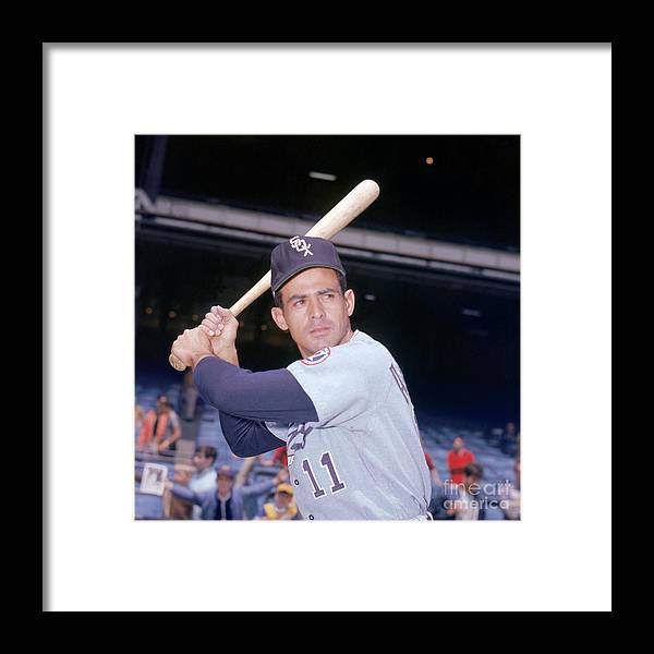 American League Baseball Framed Print featuring the photograph Luis Aparicio by Louis Requena