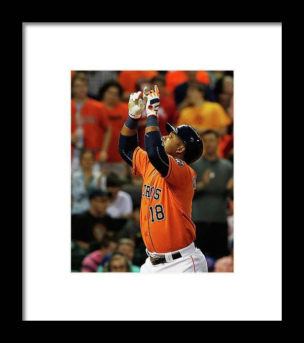 People Framed Print featuring the photograph Luis Valbuena by Scott Halleran