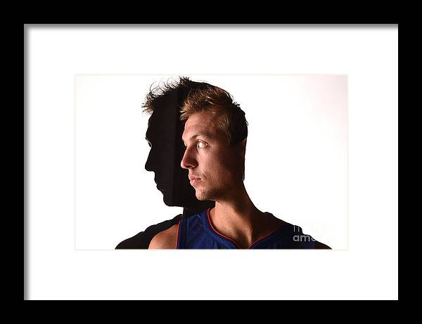 Looking Over Shoulder Framed Print featuring the photograph Luke Kennard by Brian Babineau