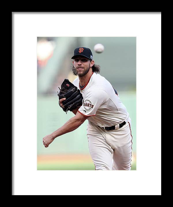 Playoffs Framed Print featuring the photograph Madison Bumgarner by Christian Petersen