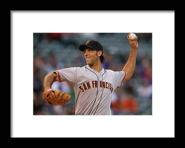 Baseball Pitcher Framed Print featuring the photograph Madison Bumgarner by Doug Pensinger