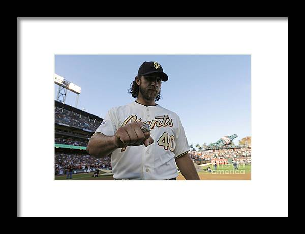 San Francisco Framed Print featuring the photograph Madison Bumgarner by Pool