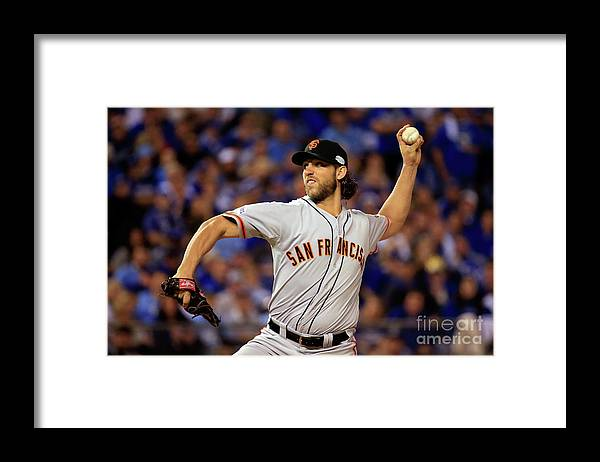 People Framed Print featuring the photograph Madison Bumgarner by Rob Carr