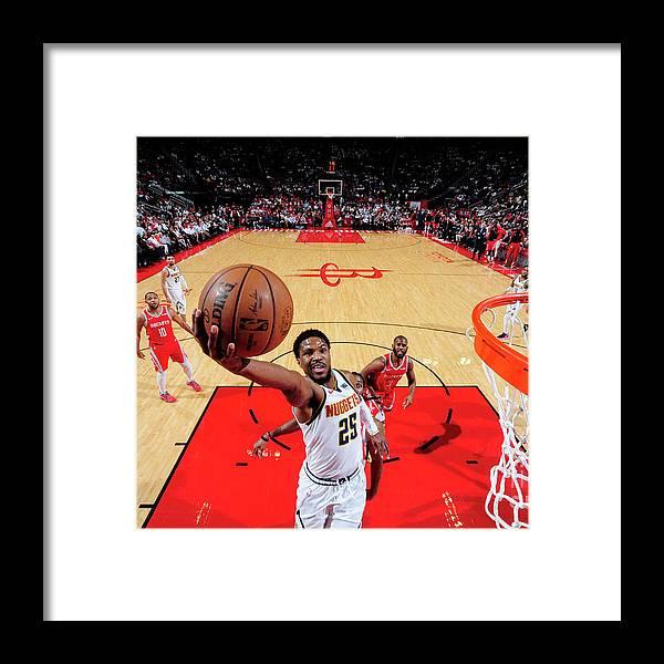 Nba Pro Basketball Framed Print featuring the photograph Malik Beasley by Bill Baptist