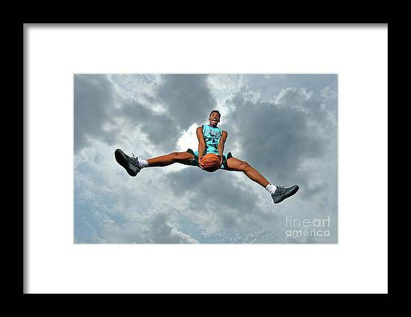 Nba Pro Basketball Framed Print featuring the photograph Malik Monk by Jesse D. Garrabrant