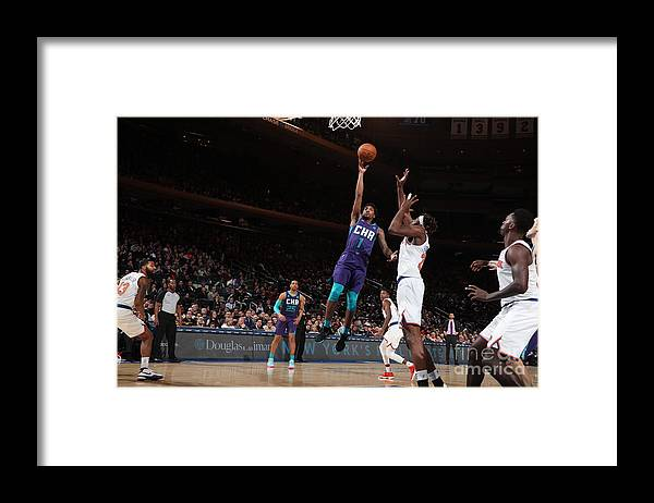 Nba Pro Basketball Framed Print featuring the photograph Malik Monk by Nathaniel S. Butler