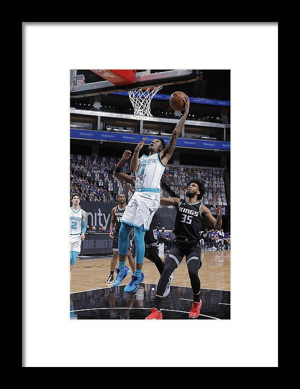 Nba Pro Basketball Framed Print featuring the photograph Malik Monk by Rocky Widner
