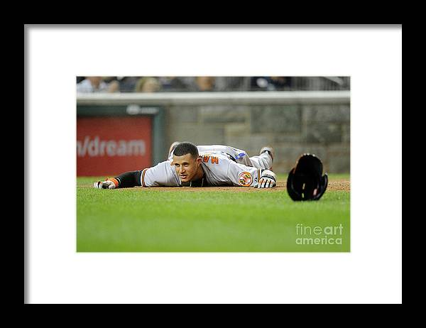 People Framed Print featuring the photograph Manny Machado by Greg Fiume