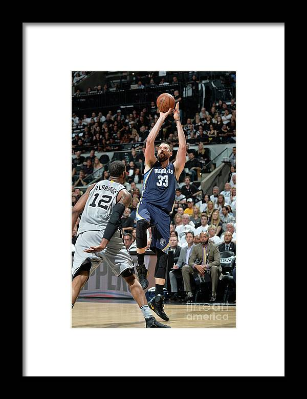 Playoffs Framed Print featuring the photograph Marc Gasol by Mark Sobhani