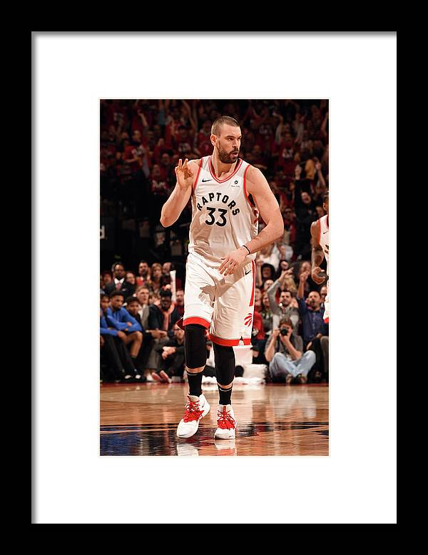Playoffs Framed Print featuring the photograph Marc Gasol by Ron Turenne