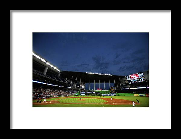 American League Baseball Framed Print featuring the photograph Marco Estrada by Mike Ehrmann