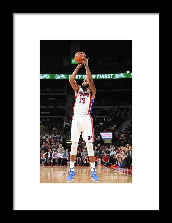 Nba Pro Basketball Framed Print featuring the photograph Marcus Morris by Chris Schwegler