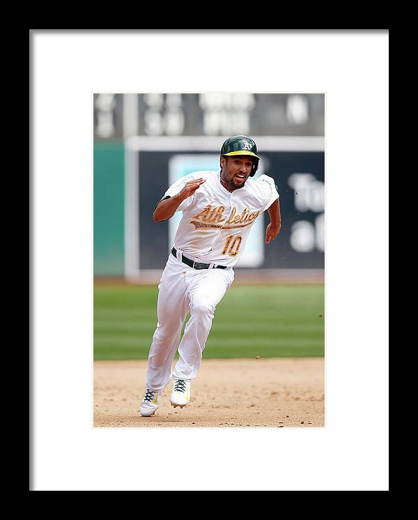 People Framed Print featuring the photograph Marcus Semien by Ezra Shaw