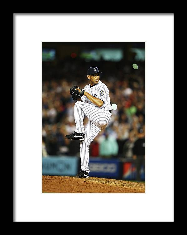 Ninth Inning Framed Print featuring the photograph Mariano Rivera by Al Bello