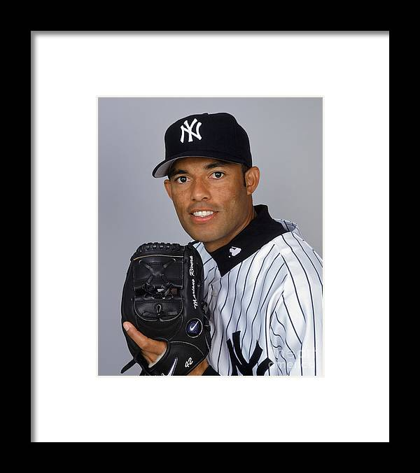 Media Day Framed Print featuring the photograph Mariano Rivera by Ezra Shaw
