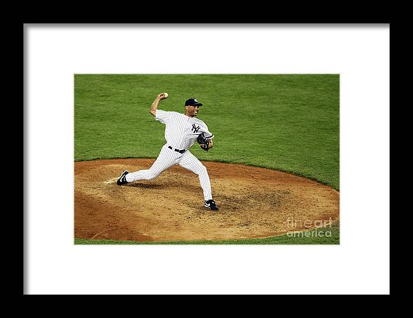 People Framed Print featuring the photograph Mariano Rivera by Nick Laham