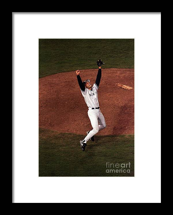 Relief Framed Print featuring the photograph Mariano Rivera by Vincent Laforet