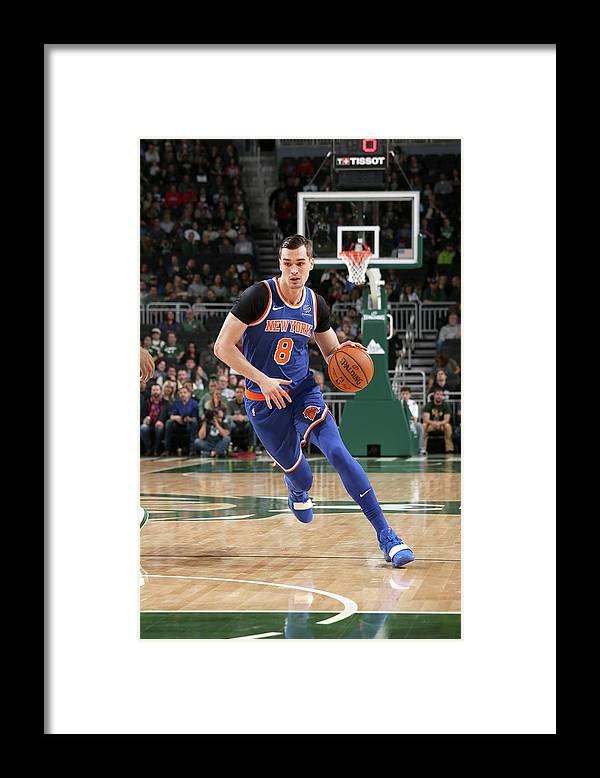 Nba Pro Basketball Framed Print featuring the photograph Mario Hezonja by Gary Dineen