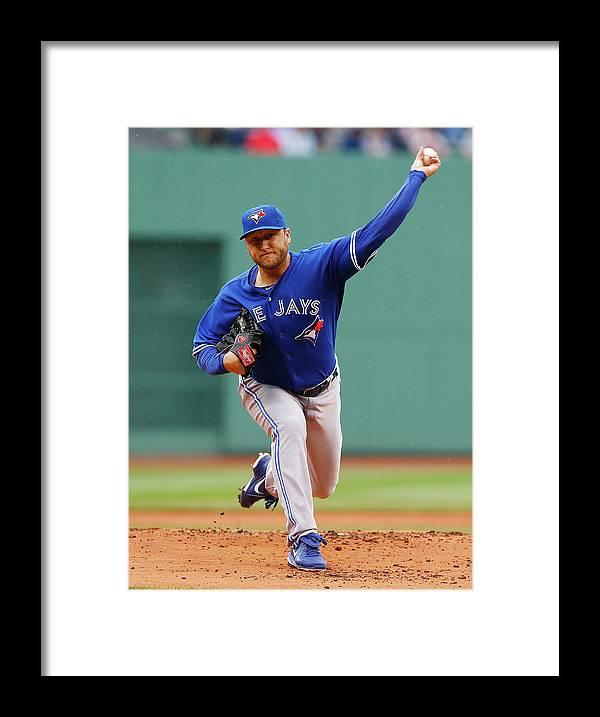 American League Baseball Framed Print featuring the photograph Mark Buehrle by Jared Wickerham