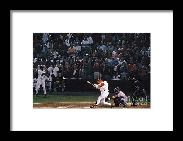 St. Louis Cardinals Framed Print featuring the photograph Mark Mcgwire and Roger Maris by Bill Stover