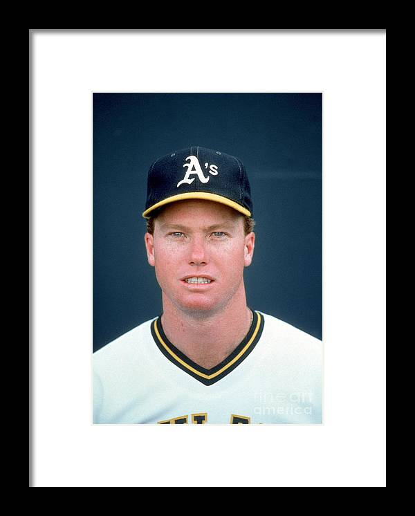 1980-1989 Framed Print featuring the photograph Mark Mcgwire by Michael Zagaris