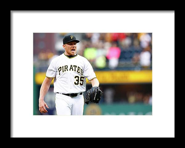 Three Quarter Length Framed Print featuring the photograph Mark Melancon by Jared Wickerham