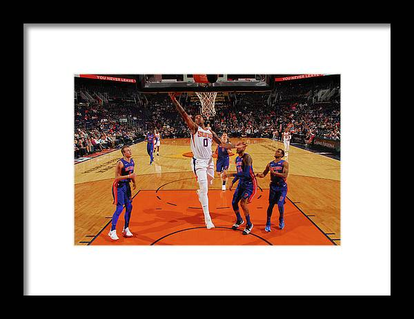 Sports Ball Framed Print featuring the photograph Marquese Chriss by Barry Gossage