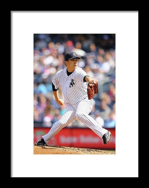 American League Baseball Framed Print featuring the photograph Masahiro Tanaka by Al Bello