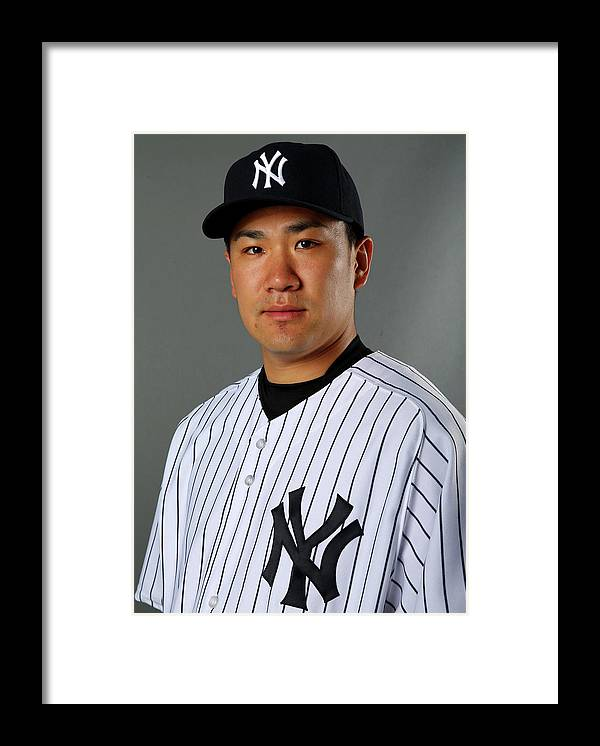 Media Day Framed Print featuring the photograph Masahiro Tanaka by Elsa