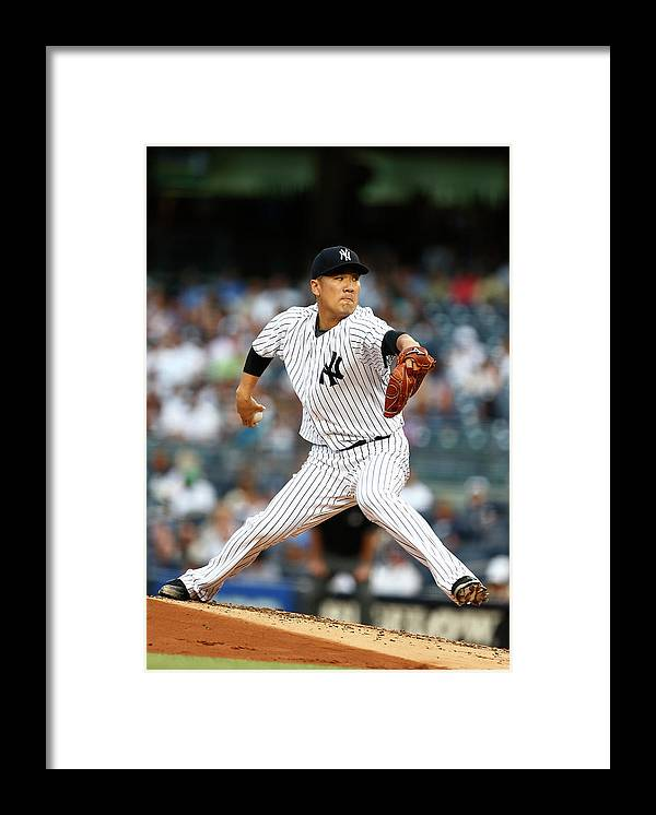 People Framed Print featuring the photograph Masahiro Tanaka by Rich Schultz