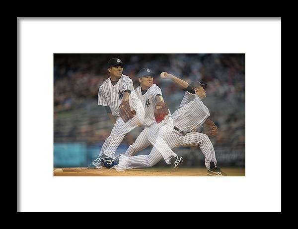 American League Baseball Framed Print featuring the photograph Masahiro Tanaka by Rob Tringali