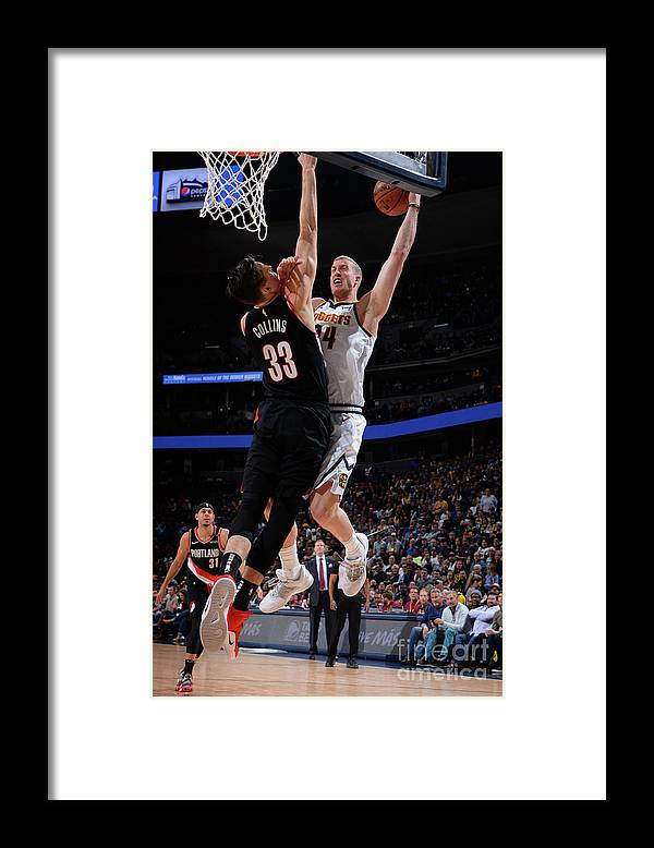 Playoffs Framed Print featuring the photograph Mason Plumlee by Bart Young