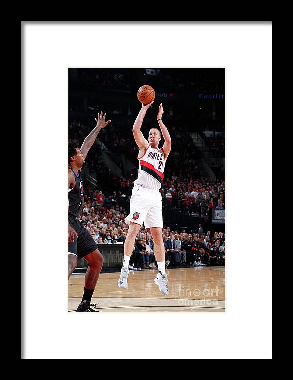 Nba Pro Basketball Framed Print featuring the photograph Mason Plumlee by Sam Forencich