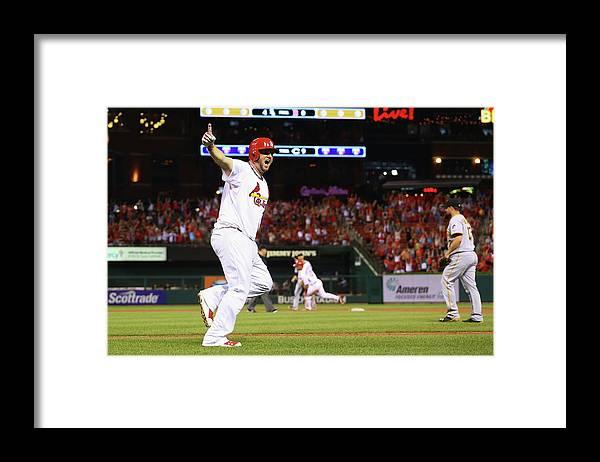 St. Louis Cardinals Framed Print featuring the photograph Matt Adams by Dilip Vishwanat