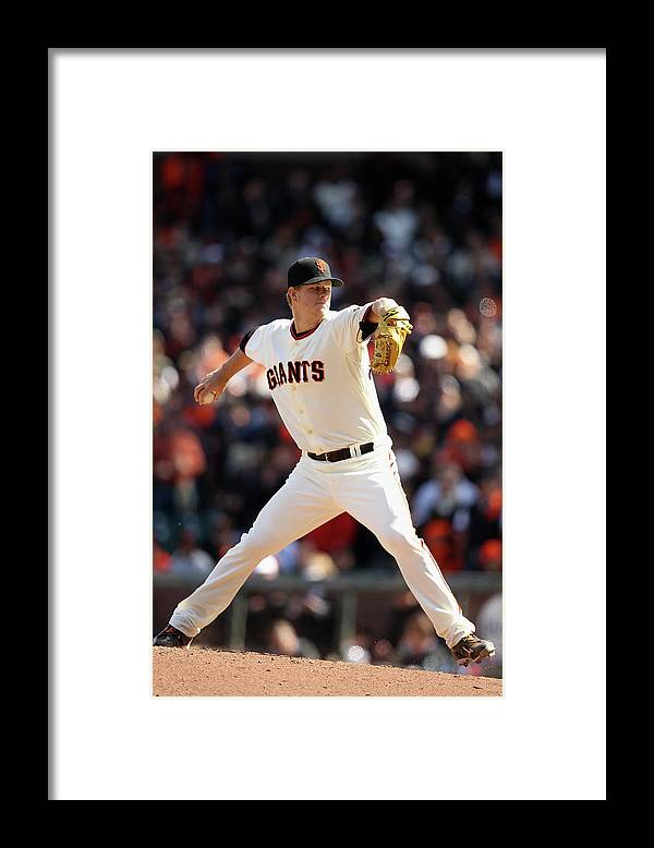 San Francisco Framed Print featuring the photograph Matt Cain by Ezra Shaw