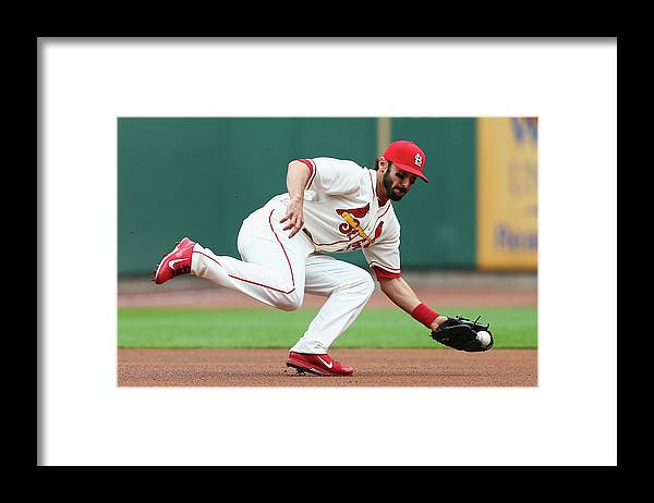 St. Louis Cardinals Framed Print featuring the photograph Matt Carpenter by Dilip Vishwanat