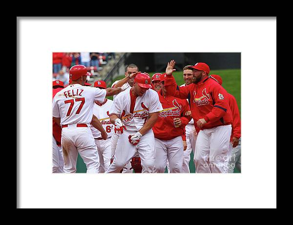 St. Louis Cardinals Framed Print featuring the photograph Matt Holliday by Dilip Vishwanat
