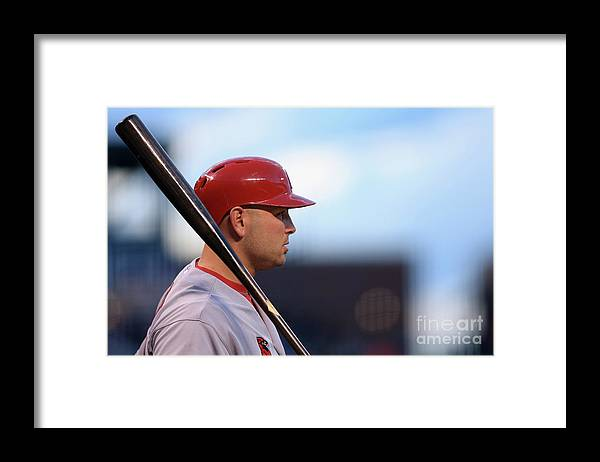 St. Louis Cardinals Framed Print featuring the photograph Matt Holliday by Doug Pensinger