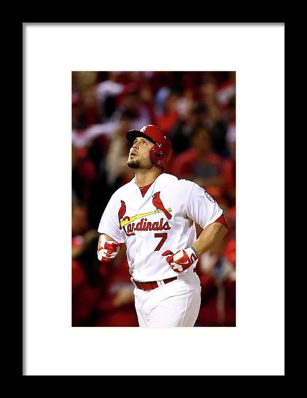 St. Louis Cardinals Framed Print featuring the photograph Matt Holliday by Elsa
