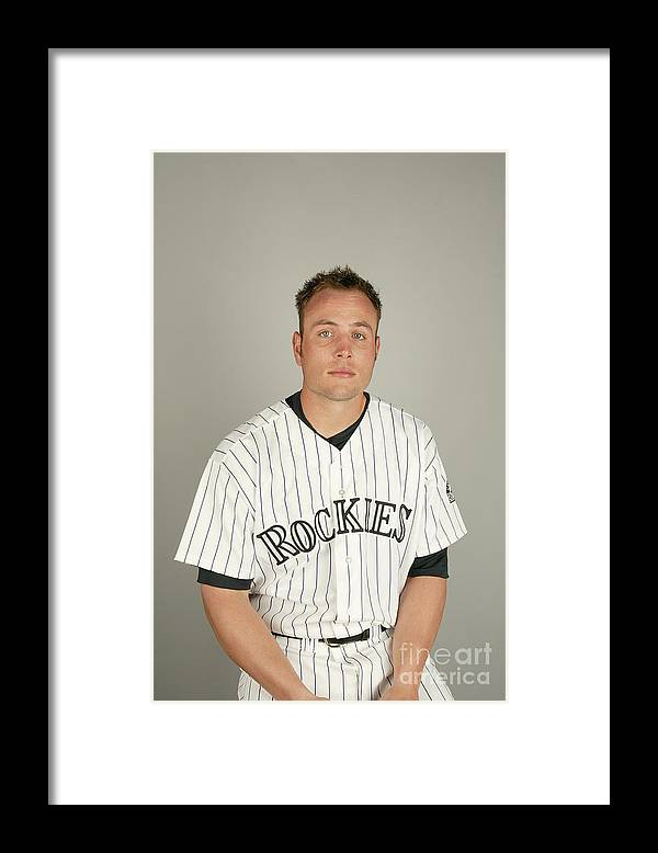 Media Day Framed Print featuring the photograph Matt Holliday by Harry How