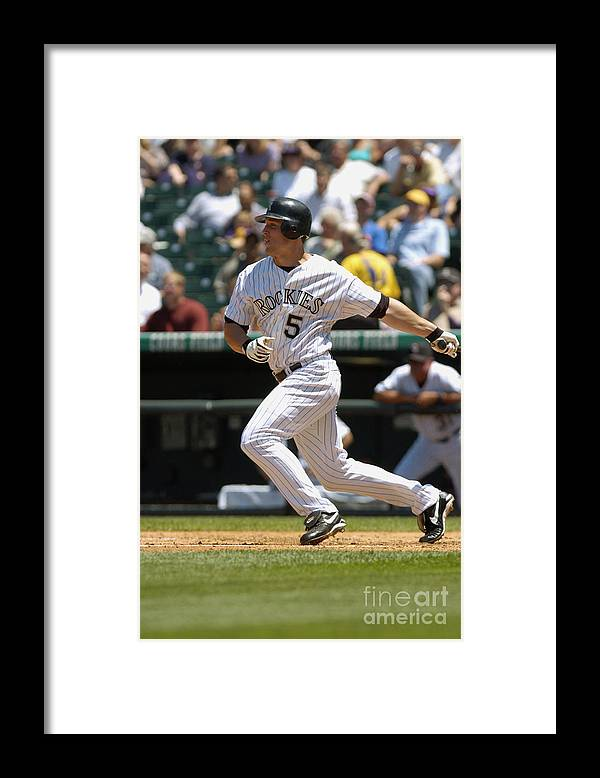 Motion Framed Print featuring the photograph Matt Holliday by John Williamson